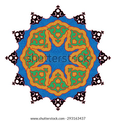 Colorful Arabic pattern - stock photo