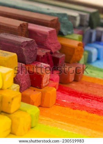 colorful artistic crayons,  - stock photo