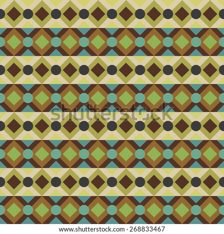 Colorful aztec seamless pattern. Abstract geometric tribal art print. Repeating folk background texture. Cloth design. Wallpaper, wrapping - stock photo