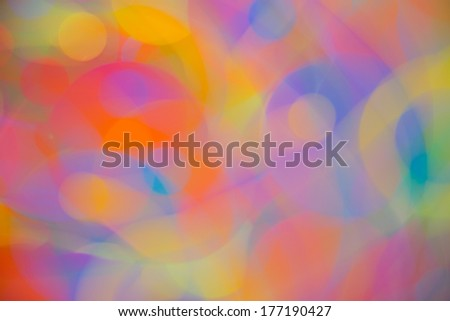 Colorful Background, Circle Shape, long camera exposure - stock photo