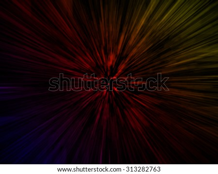 Colorful background in warp speed. - stock photo