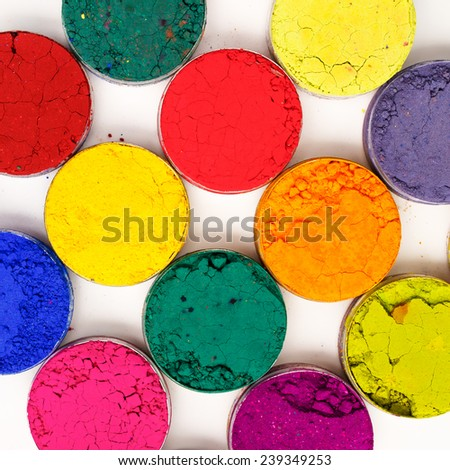 Colorful background. Indian Holi festival colours - stock photo