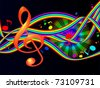 Colorful Background Music - stock photo