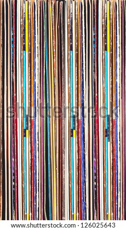 Colorful background of vinyl records - stock photo