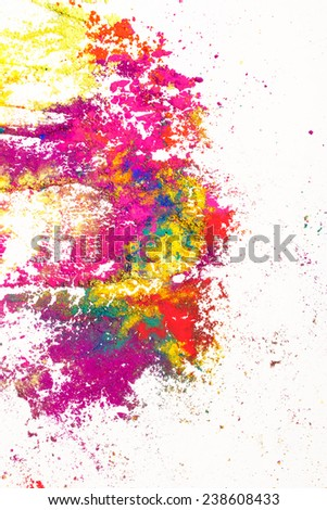 Colorful background. Vivid Indian dyes - stock photo