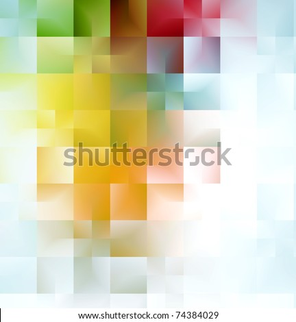 colorful background with abstract shapes. - stock photo