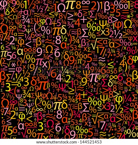 Colorful background with numbers - stock photo