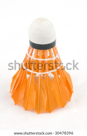 colorful badminton sports attributes isolated on a white background - stock photo