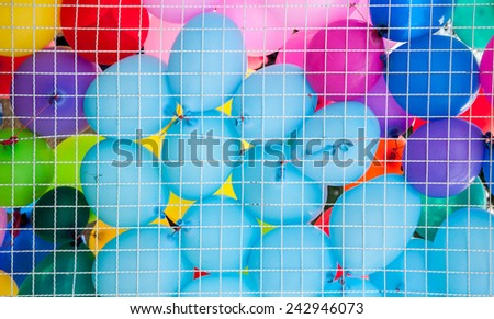 Colorful balloon background - stock photo