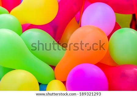Colorful balloon background for decoration - stock photo