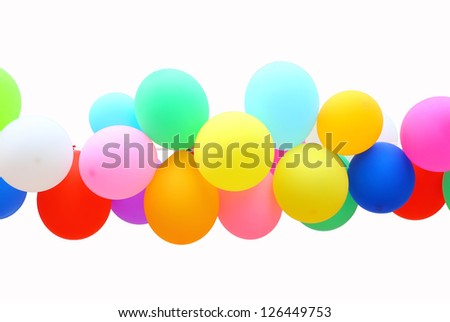 colorful Balloon isolated on white background. - stock photo