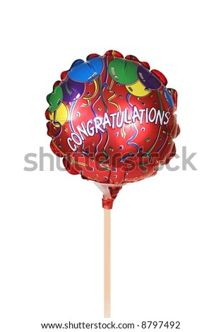 colorful balloon with word congratulations - stock photo