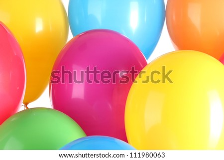 Colorful balloons background - stock photo