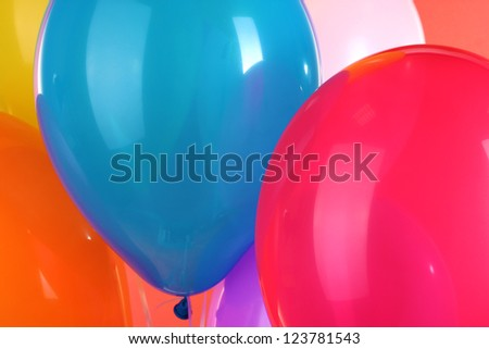 colorful balloons close-up - stock photo