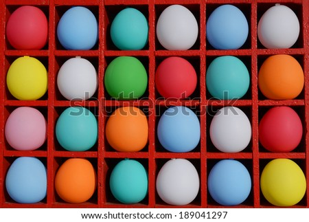 Colorful Balloons in a Box - stock photo