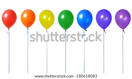 colorful balloons Like a rainbow - stock photo