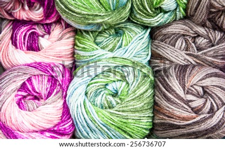 Colorful Balls Of Wool As A Background Stock Photo