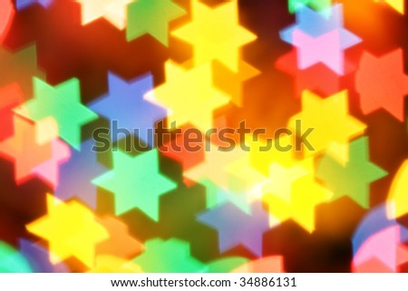 Colorful blurred stars, may be used as background - stock photo