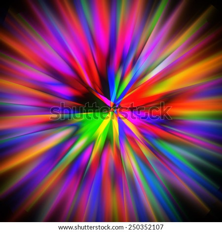 colorful blurry zoom background - stock photo