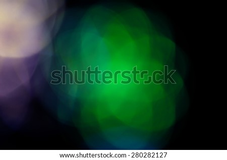 Colorful bokeh, Abstract christmas lights on background - stock photo