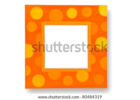 Colorful bokeh picture frame - stock photo