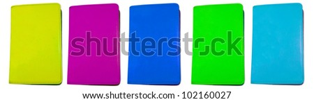 colorful books - stock photo