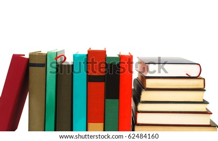 Colorful books on studying - stock photo