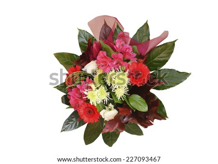 colorful bouquet - isolated - stock photo