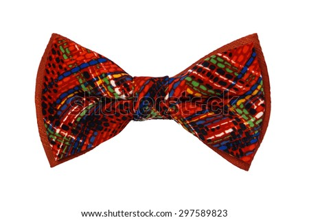 Colorful bow tie white background - stock photo
