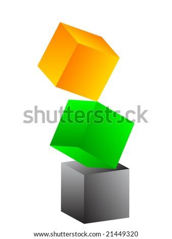 Colorful box image illustration - stock photo