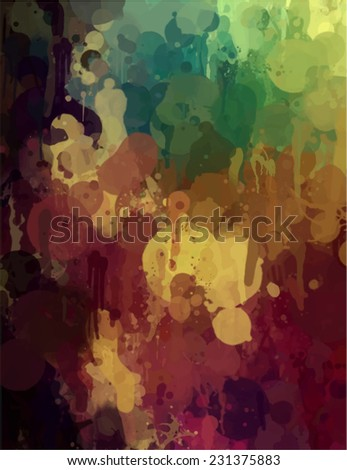 Colorful brush stroke paint. Abstract illustration. - stock photo