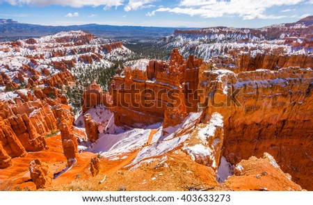 Colorful Bryce canyon national park, Utah - stock photo