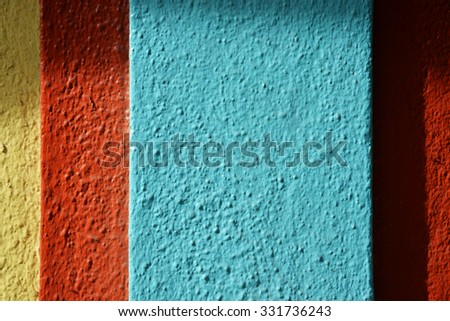 colorful building detail - stock photo