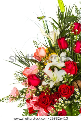 Colorful Bunch of flowers - stock photo