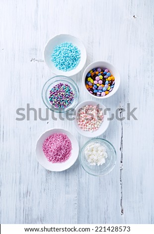 Colorful  Cake Decorations  - stock photo