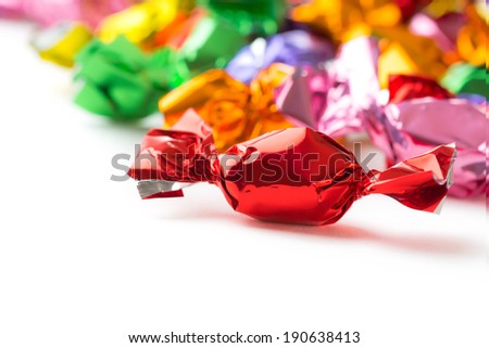 colorful candies collection - stock photo
