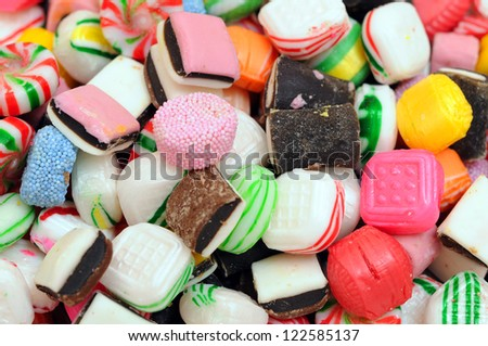 colorful candies for background uses - stock photo