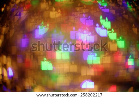 colorful candle bokeh background - stock photo