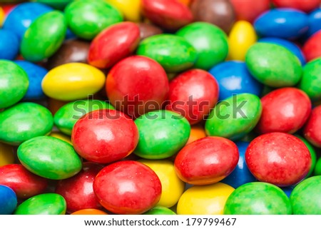 Colorful Candy Background Close Up - stock photo