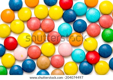 Colorful capsules with vitamins and minerals - stock photo