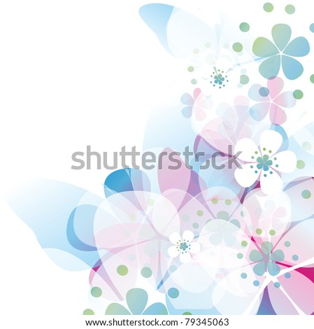 Colorful card with butterfly - stock photo