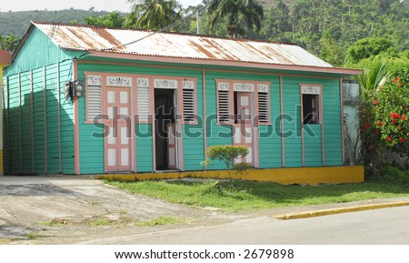Colorful Caribbean House - stock photo