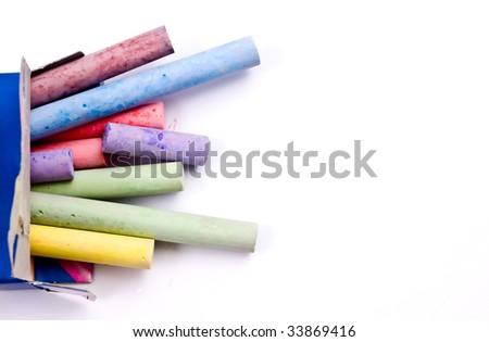 Colorful chalks - stock photo