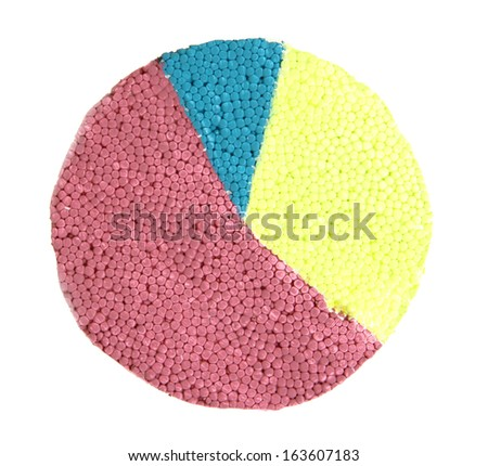 Colorful chart isolated on white - stock photo