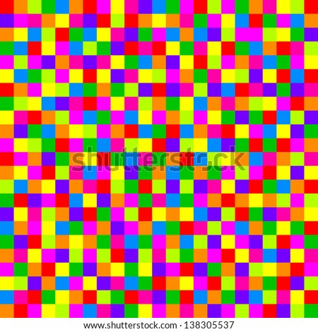 Colorful checkered pattern - stock photo