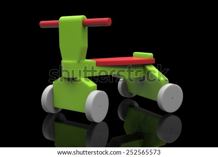 Colorful Children's trike - stock photo