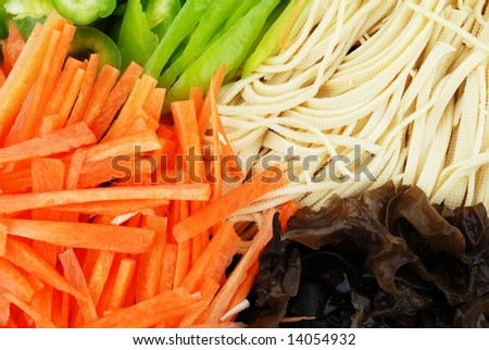 colorful Chinese food material - stock photo