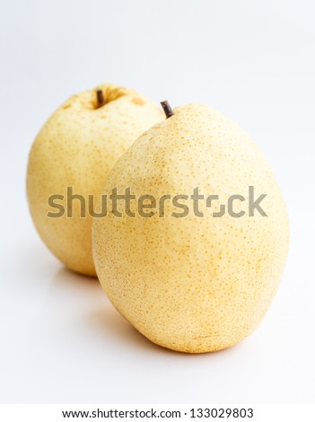 Colorful chinese pear to eat - stock photo