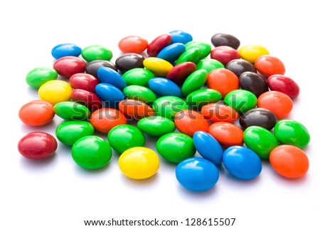 colorful chocolate buttons - stock photo