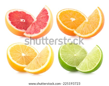 colorful citruces - stock photo